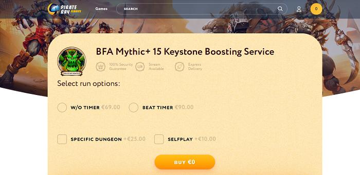 wow mythic 15 keystone boost,
