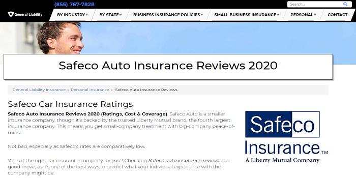 Safeco Car Insurance Reviews